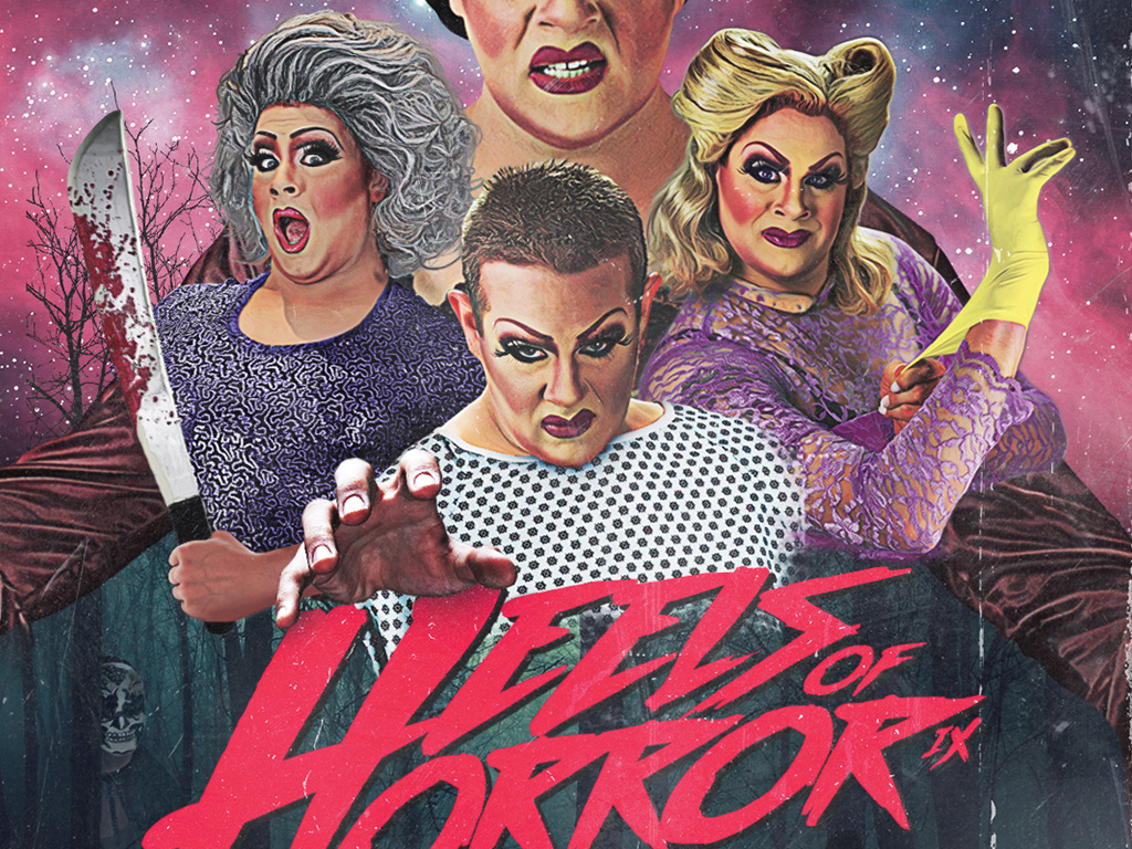 Nina West's Heels of Horror 9 Poster Design